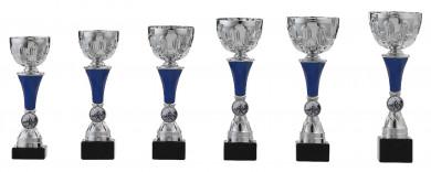 Pokale 6er Serie S159 silber-blau