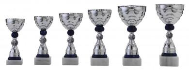 Pokale 6er Serie S488 silber/blau