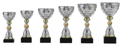 Pokale 6er Serie S495 silber/gold
