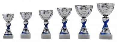 Pokale 6er Serie S501 silber/blau