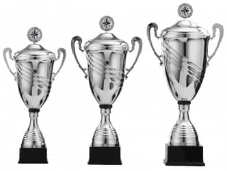 Pokale mit Henkel 3er Serie S968 mit Deckel
