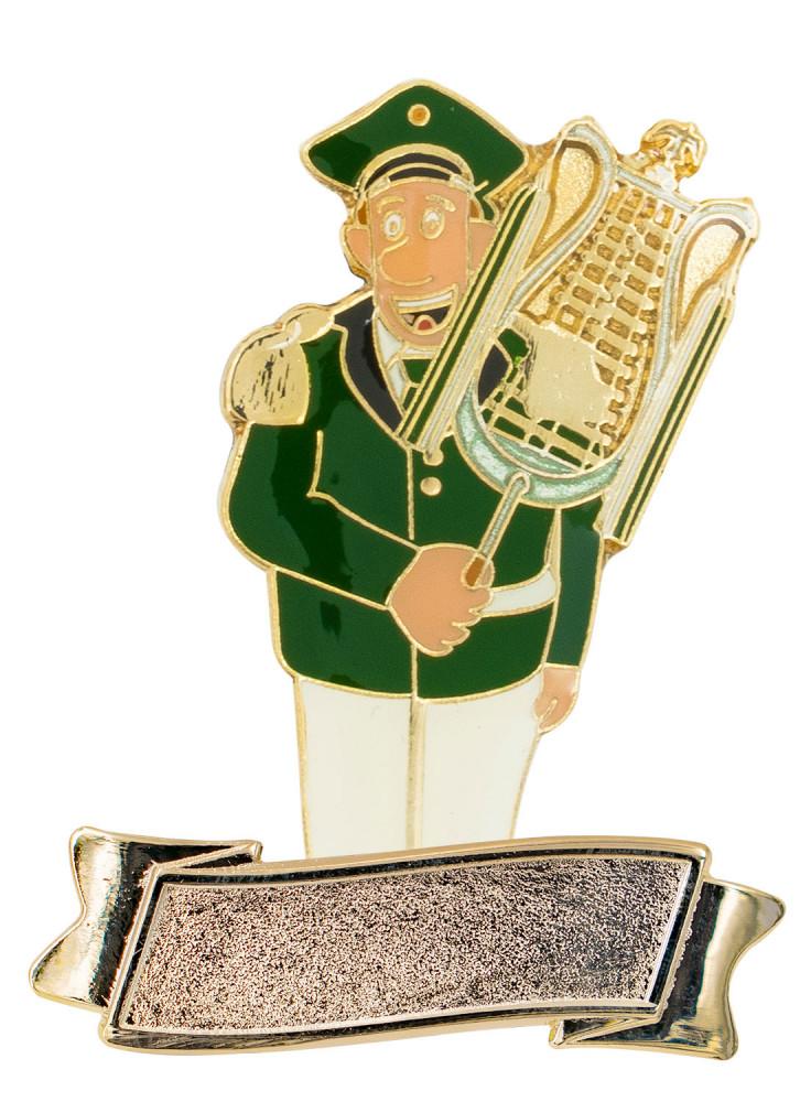 """Musiker """"Larry Lyra"""" Lyraspieler mit Gravurfläche grün-weiß"""