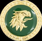 Auflage Adlerkopf grün