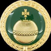 Auflage Reichsapfel grün