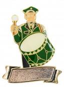 """Musiker """"Paul Pauke"""" mit großer Trommel mit Gravurfläche grün-schwarz"""