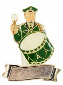 """Musiker """"Paul Pauke"""" mit großer Trommel mit Gravurfläche grün-weiß"""