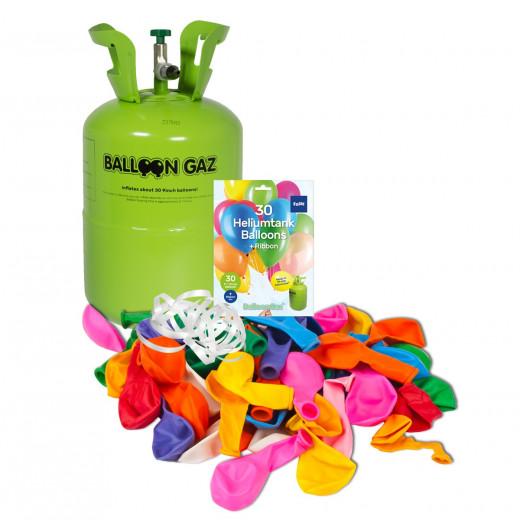 Kleines Helium + Luftballon Set