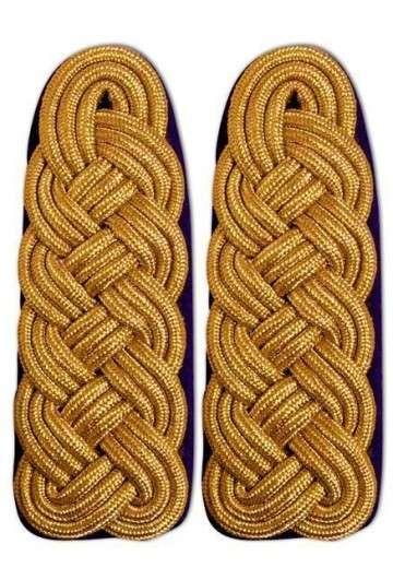 Schultergeflecht - Majorsgeflecht gold schwarz