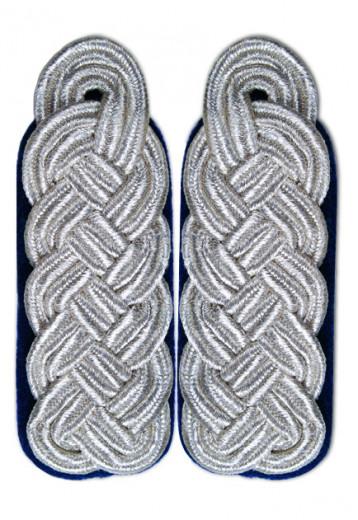 Schultergeflecht - Majorsgeflecht silber blau