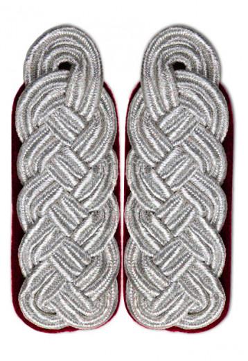 Schultergeflecht - Majorsgeflecht silber rot