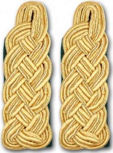 Schultergeflechte - Majorsgeflechte gold schwarz