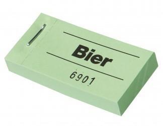 """Blockgutscheine """"Bier"""" weiß"""