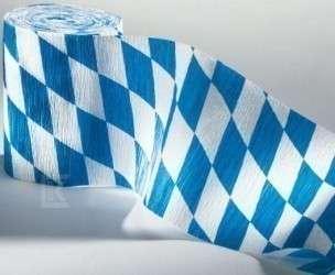 3 Rollen Kreppband Bayern, schwer entflammbar
