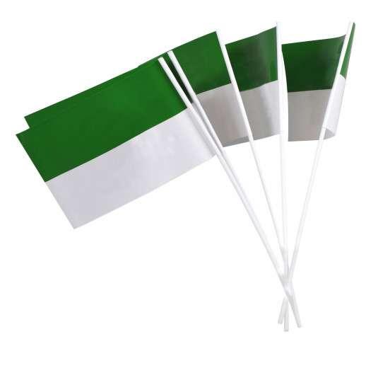 Papierfähnchen grün/weiß für Schützenfest