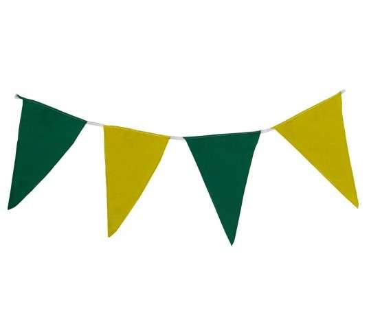 Wimpelkette grün-gelb aus Stoff (Meterware)