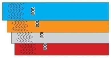 TYVEK Kontrollbänder 100 Stück/VE silber