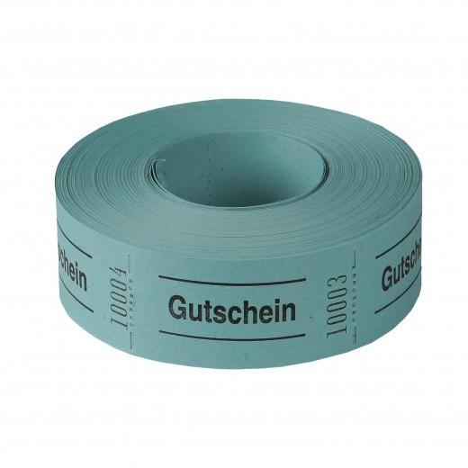 """Rollen-Gutschein - """"Gutschein"""" blau 1000 Abrisse blau"""
