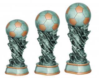 Fußballpokale 3er Serie TRY-6558 altsilber mit gold 17,5 cm