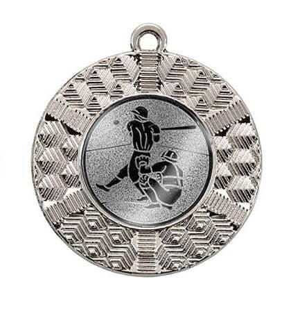 "Medaille ""Chalkis"" Ø 45 mm inkl. Wunschemblem und Kordel silber"