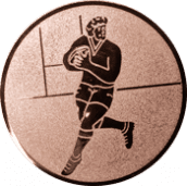 Emblem 25mm Footballer, bronze