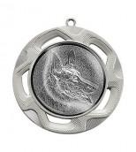 """Medaille """"Doriskos"""" Ø 70 mm inkl. Wunschemblem und Kordel silber"""