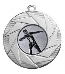 """Medaille """"Briareos"""" Ø 50 mm inkl. Wunschemblem und Kordel silber"""