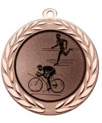 "Medaille ""Moiren"" Ø 70 mm inkl. Wunschemblem und Kordel bronze"