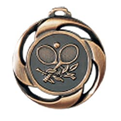 "Medaille ""Tennis"" Ø 40mm mit Band Bronze"