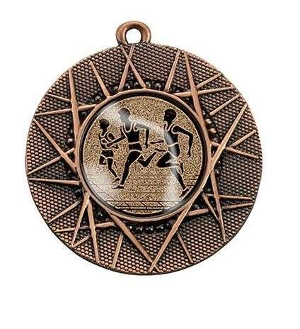 """Medaille """"Datos"""" Ø 50 mm inkl. Wunschemblem und Kordel bronze"""