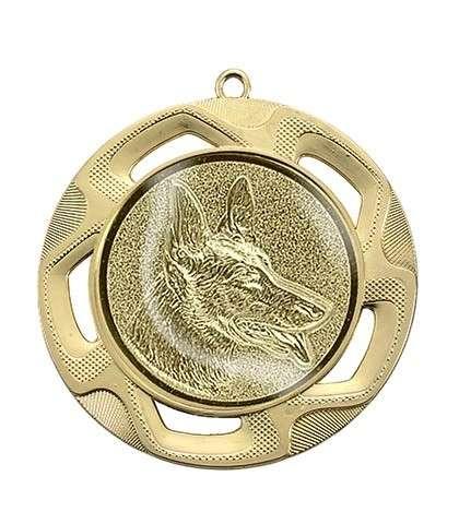 """Medaille """"Doriskos"""" Ø 70 mm inkl. Wunschemblem und Kordel gold"""