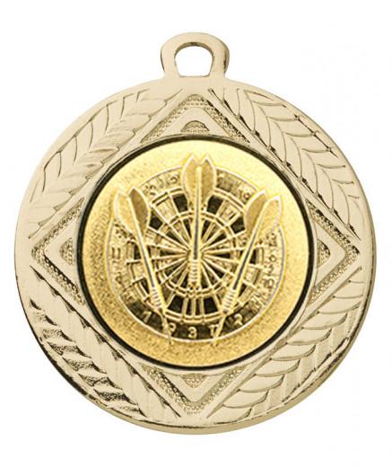 "Medaille ""Pontos"" Ø 40 mm inkl. Wunschemblem und Kordel gold"