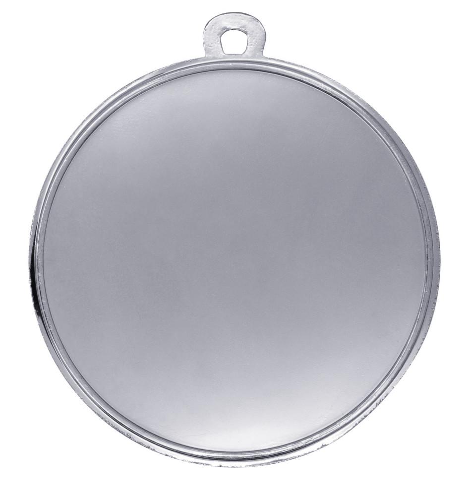 """Medaille """"Fußball"""" Ø 50mm mit Band silber"""