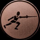 Emblem 25 mm Fechten, bronze