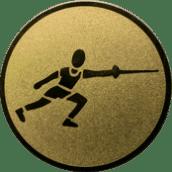 Emblem 25 mm Fechten, gold