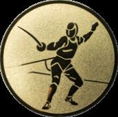 Emblem 25 mm Säbelfechten, gold