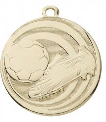"Fußballmedaille ""Schuss"" Ø 45 mm inkl. Kordel gold"