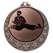 """Karate Medaille """"Brixia"""" Ø 32mm mit Wunschemblem und Band bronze"""