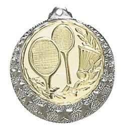 """Medaille """"Brixia"""" Ø 32mm mit Wunschemblem und Band silber"""