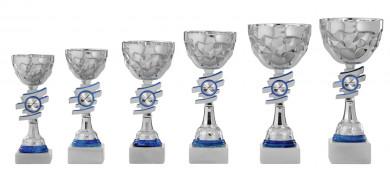Pokale 6er Serie S434 silber/blau 24 cm