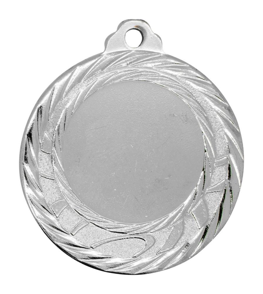 """Medaille """"Olympia"""" Ø 40mm mit Wunschemblem und Band silber"""