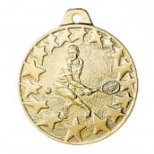 "Medaille ""Tennis"" Ø 40mm gold mit Band"