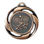 """Medaille """"Tennis"""" Ø 40mm mit Band Bronze"""
