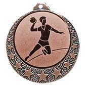 """Handball Medaille """"Brixia"""" Ø 32mm mit Wunschemblem und Band bronze"""