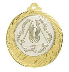 """Medaille """"Eloro"""" Ø 70mm mit Wunschemblem und Band gold"""