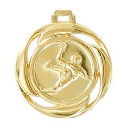 "Medaille ""Handball"" Ø 40mm mit Band Gold"