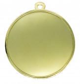"""Medaille """"Arezzo"""" Ø 40mm mit Wunschemblem und Band gold"""