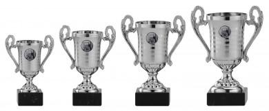 Pokale mit Henkel 4er Serie A315 silber 21 cm