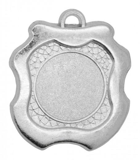 """Medaille """"Milet"""" Ø 45mm mit Wunschemblem und Band silber"""