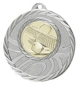"""Medaille """"Brinidis"""" Ø 50mm mit Wunschemblem und Band silber"""