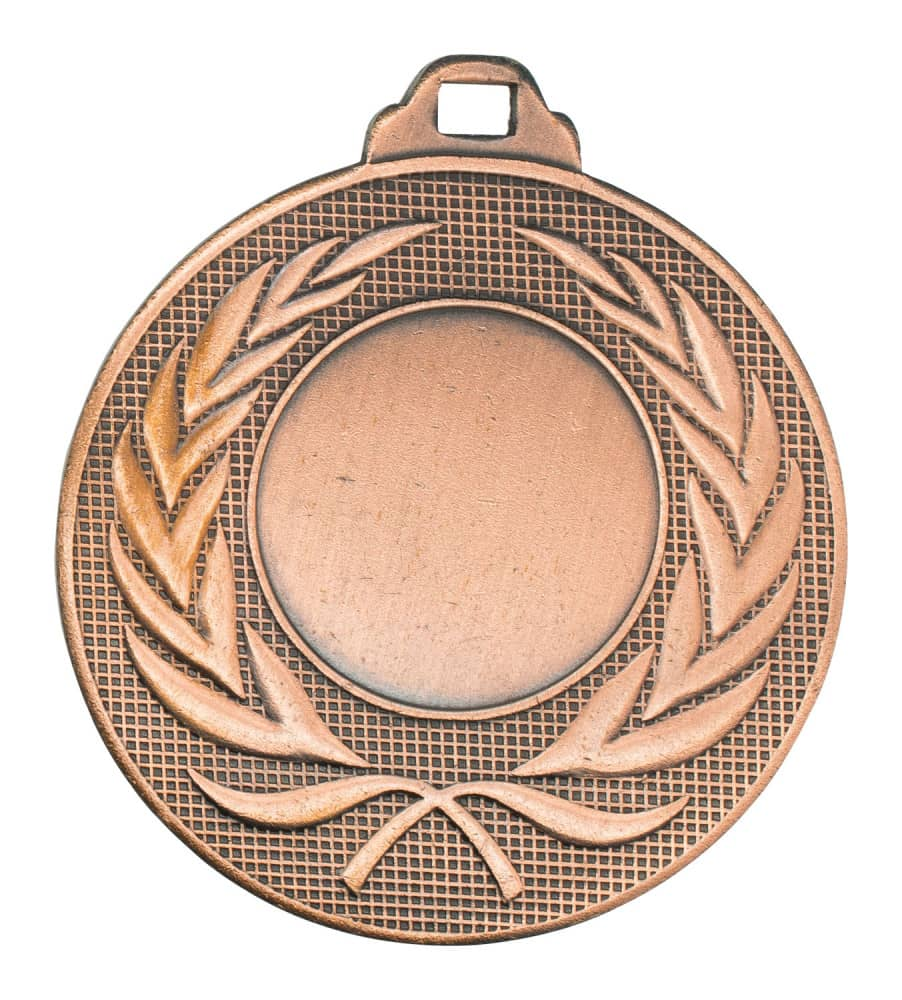 """Medaille """"Elea"""" Ø 50mm mit Wunschemblem und Band bronze"""